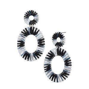 NWOT Anthropologie statement hoop earrings